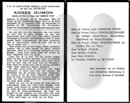 Bidprentje Agnes Dumon