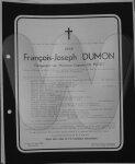 Overlijdensbericht François-Joseph Dumon